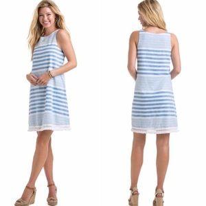 Vineyard vines striped linen shift dress